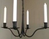 candle chandelier, hand forged by blacksmith