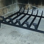 CUSTOM fire place grate hand forged by blacksmith