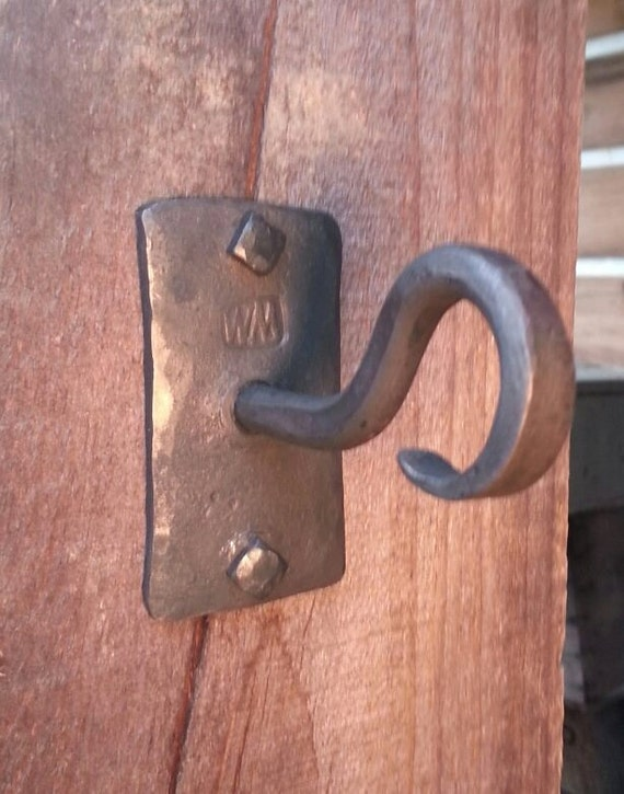Bottle Opener Unique Wall Mount Hook Handle Hand Forged Etsy