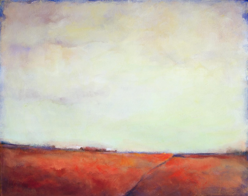 Impressionist Painting of Poppy Fields in Germany image 1