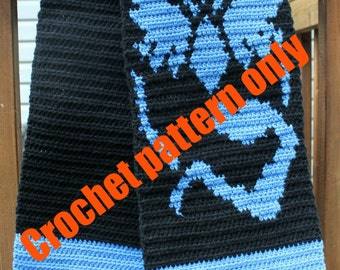 Crochet Pattern for a Team Mystic inspired Scarf