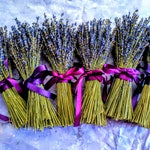 English Lavender bundles.  Lavender nosegay.  Ribbon included.  Small Centerpieces, party favors, bridal parties, home decor