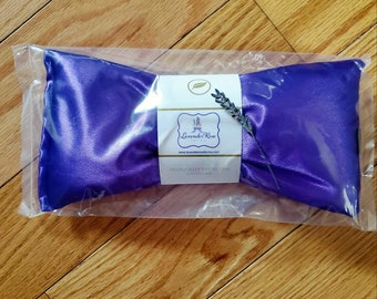 Lavender eye pillows.  Weighted Lavender Flax Seed Eye Pillow. Stress & Migraine Relief.  Hot and cold therapy, Mother's Day