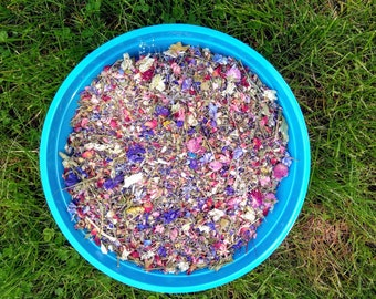 Dried Flower Natural scented potpourri with lavender, Wildflower Petals confetti, bowl filler, Wedding petal confetti. Not Edible