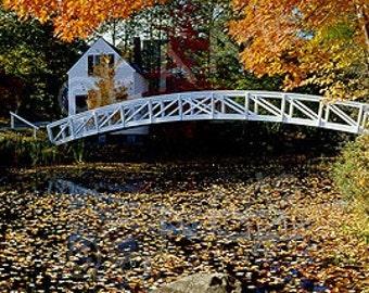 Somesville,  Mt Desert Island, Maine Panoramic Photography  Maine Art-Maine Photographer Maine Color Art Print-Maine Photographer Paul Vose
