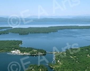 Sebago Lakes Region Maine Panoramic Photography Wall Decor Maine Lake Maine Art Print by Maine Photographer Paul Vose