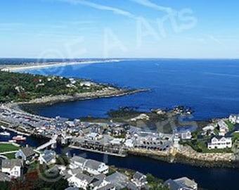Perkins Cove Ogunquit Maine Panoramic Maine Art Print US MADE    Maine Photographer