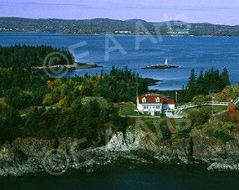 Owl's Head Maine Aerial Maine Panoramic Photography  Maine Art  Maine Photographer Paul Vose