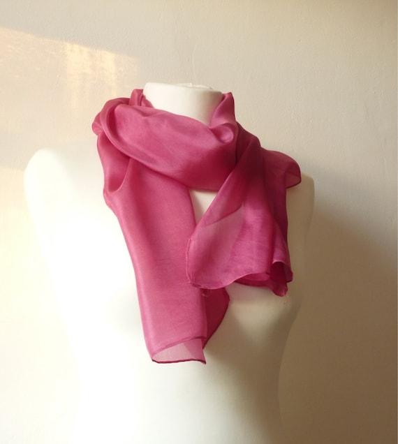 naturellement foulard eco amical à la main rose teint foulard   Etsy 7ac9d1bdc5c7