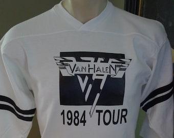 Hot for Teacher Vintage 1984 Tour JERSEY T-SHIRT FREE SHIP USA Jump