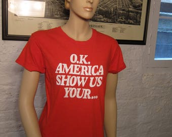 Size Women's S (35) ** Rare 1978 Underalls Shirt (Double Sided)