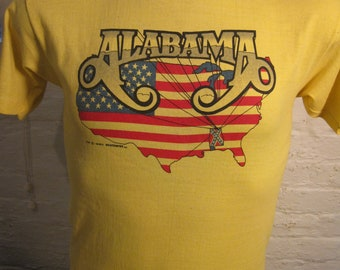 Size M (41) ** True Vintage 1980 Alabama Concert Shirt (Double Sided)