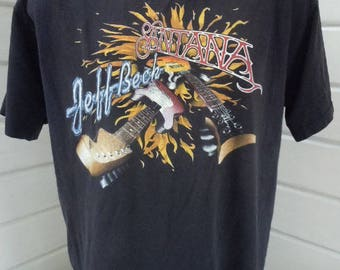 Size XL (50) ** 1996 Santana Concert Shirt (Double Sided)