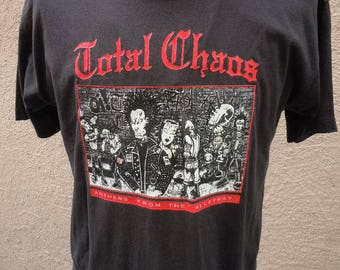 Size XL (48) ** Rare 1996 Total Chaos Concert Shirt (Double Sided)