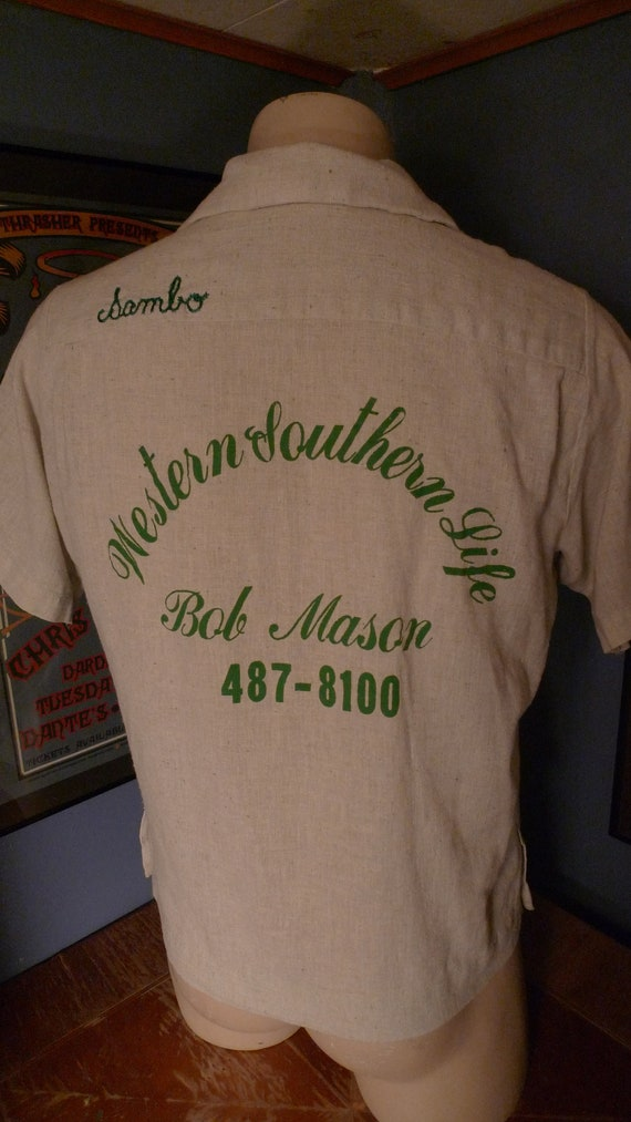 Size L (46) ** Killer 1960s Bowling Shirt-Jac (Dou