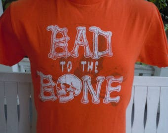 Size M (43) ** Bad To The Bone / George Thorogood Shirt (Single Sided)