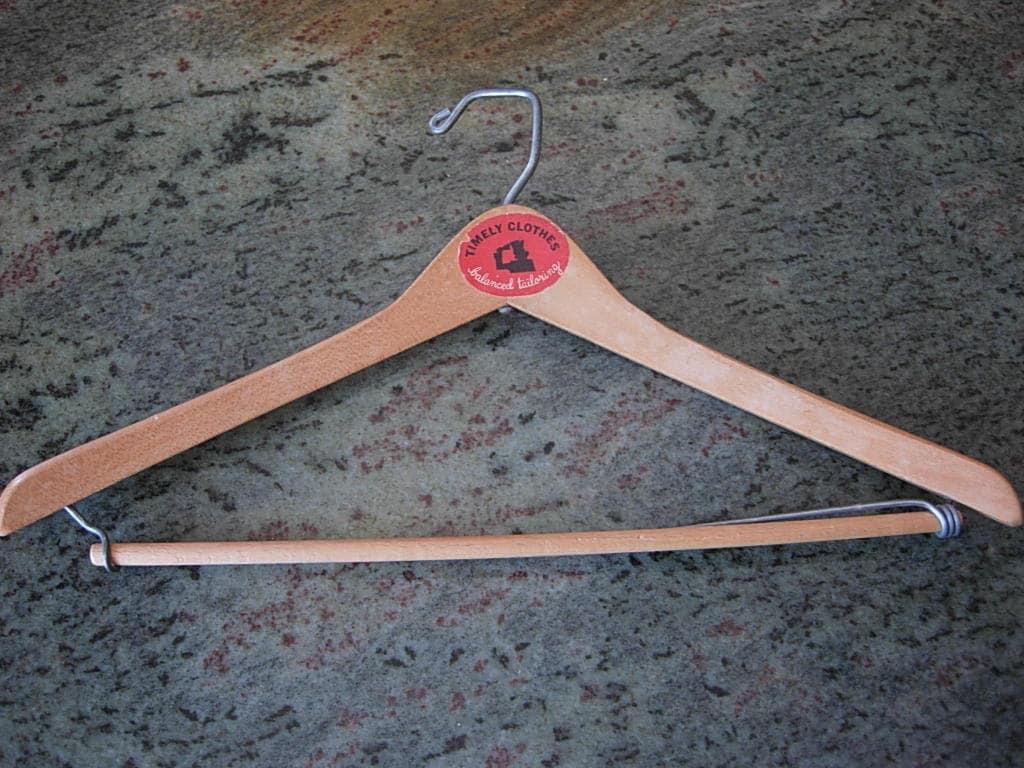 1940s Mens Ties | Wide Ties & Painted Ties Great 1940S-50S High-End Wood Suit Hanger $30.00 AT vintagedancer.com