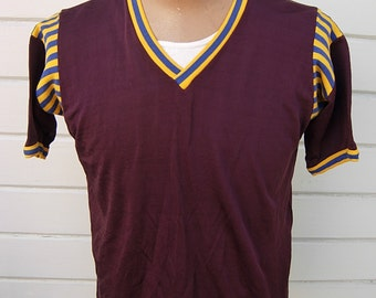 Size XL (48) ** Cool 1940s Rayon Athletic Jersey