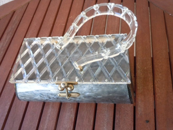 Wonderful 1950s Lucite Box Purse