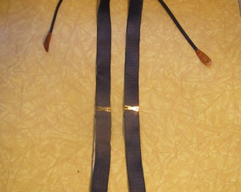 1950s Blue Hickok Braces with Art Deco Buckles