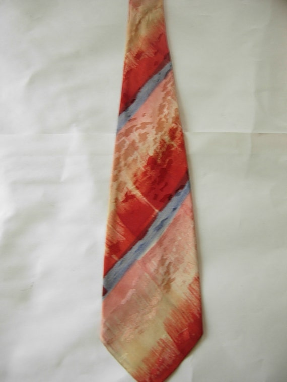 Hand Painted 1940s Swing Tie