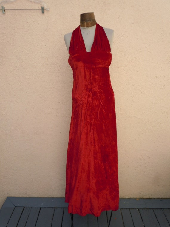 "Bust: 32-34-36"" ** Gorgeous Open Back Sexy Red Vel"