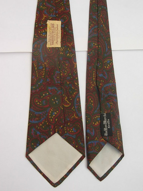 Late 1940s - Early 1950s Silk Bold  Paisley Tie - image 3
