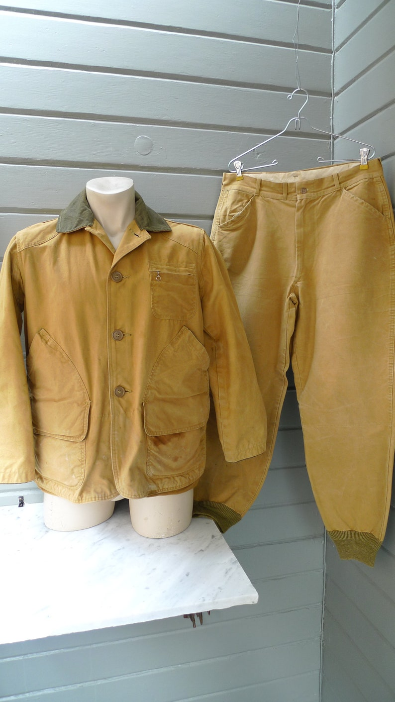 86ae8c483b6 Size L 42R Incredible 1930s-40s L.L. Bean Hunting Suit