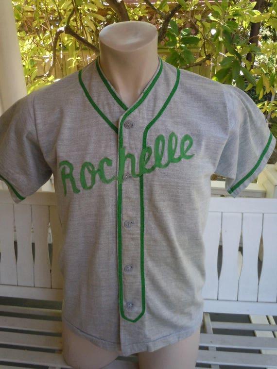 Size XL- (44) ** Cool 1940s-50s Baseball Jersey