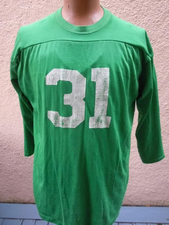 Size XL (50) ** Cool 1960s Rayon Football Jersey