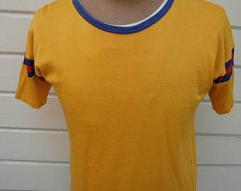 Size XL (48) ** Cool 1940s-50s Rayon Athletic Jersey
