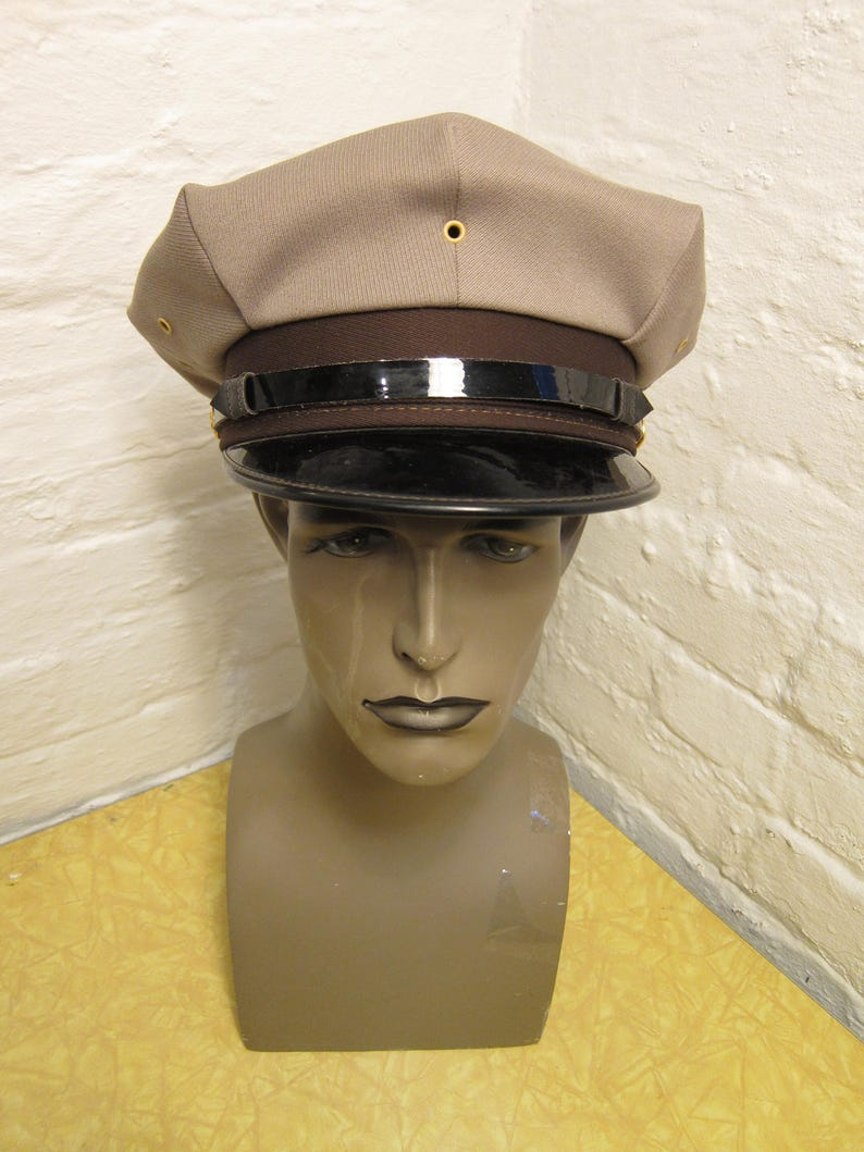 9185fe13a29a6 Size 7 1 8 Cool Marlon Brando Style 1950s-60s Tan   Black