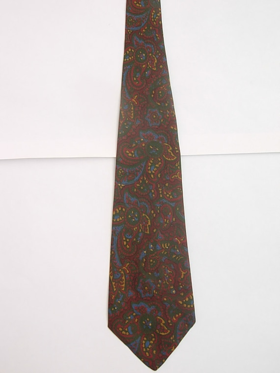 Late 1940s - Early 1950s Silk Bold  Paisley Tie - image 1