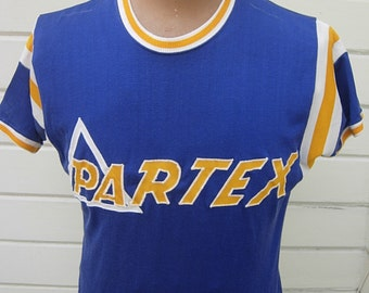 Size L (44) ** Cool Partex 1940s-50s Rayon Athletic Jersey