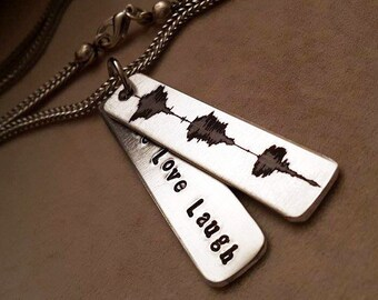 Soundwave Necklace Personalize Soundwave Necklace Chain Necklace Men/'s Chain Necklace Womens Necklace feel Manual