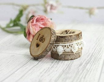 Rustic Ring Box Etsy