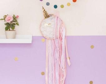 unicorn gift, unicorn wall art, unicorn nursery, unicorn hoop art, nursery decor, nursery wall art, baby shower gift, gift for baby girl