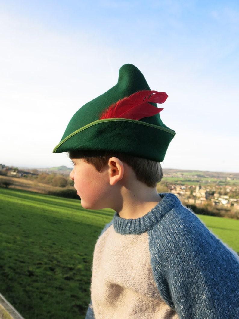 00dc17095af Childs felt Pan  Robin Hood  Elf hat