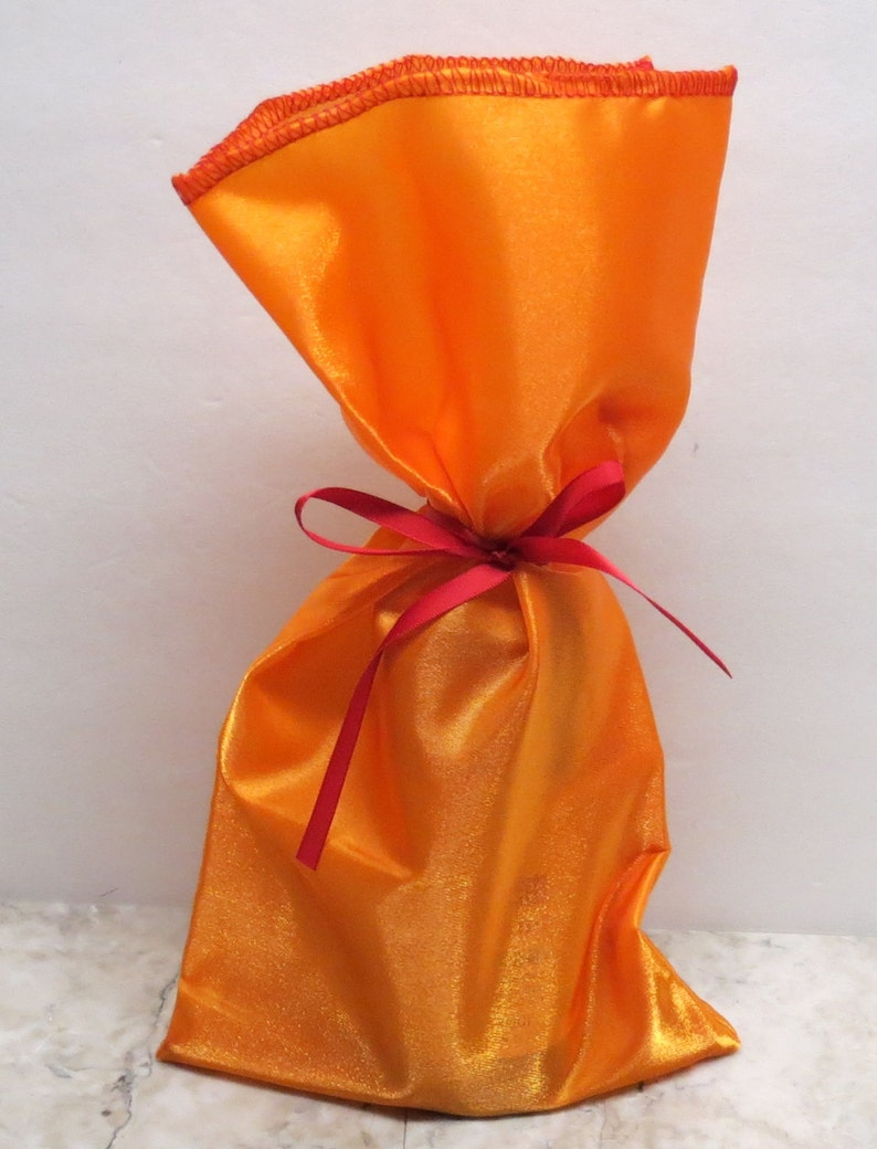 and decorative  gift wrap Great for weddings party favors Crystal Satin Gift Sack SAK-112 Orange 6x12 bag