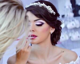Perle Braut Stirnband, elegante Brautschmuck, Kristall Braut Haar-Accessoire, Retro-Kopfschmuck