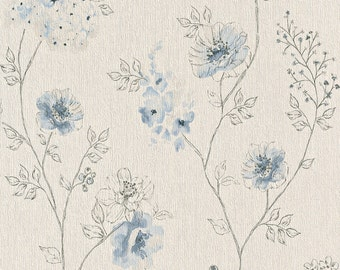 Floral Sketched Dainty Walpaper R4376