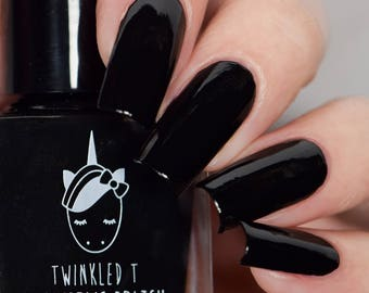 Vibin' Black Stamping Polish by Twinkled T