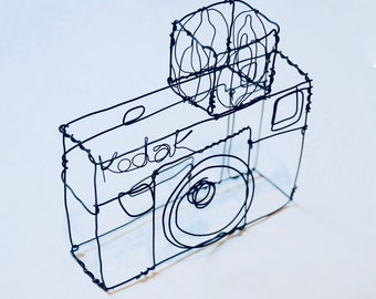 Wire Sculpture, Kodak Camera, Photographer, Photography, Antique Camera