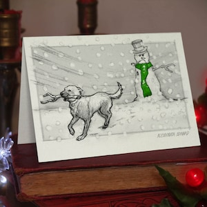 Beautifully drawn luxury handmade on heavy textured card FREE P/&P for UK card orders. Rottweiler Greeting Card