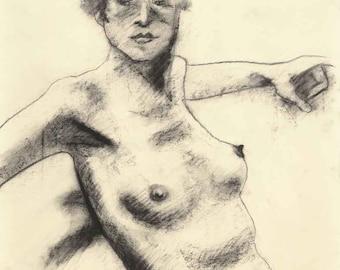 Gertrude Print - Fine Art Life Drawing Print