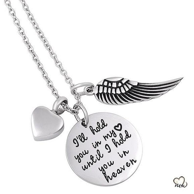 Circle I Will Hold You In My Heart Poetry Memorial Pendant