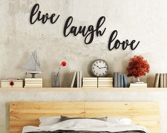 Fun /& Laughter White Love wall hanging heart gift decoration wooden sign art