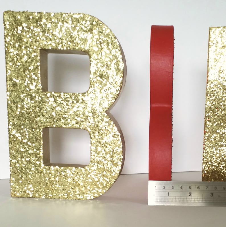 Gold Glitter Letters Font Free