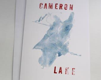 Cameron Lake card