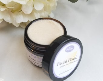 Natural Facial Scrub - Face Polish - Gentle Face Scrub - Organic Skin Care Products - Gifts for Her - Mom gifts - Anti aging Products
